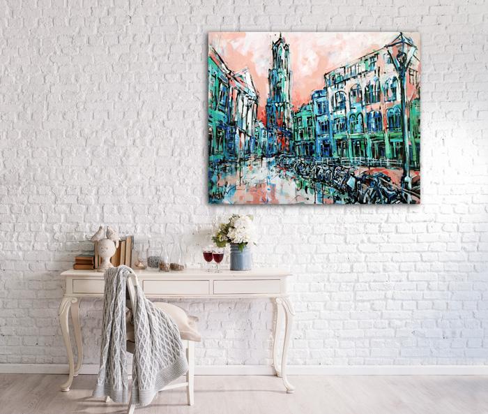 Stadhuiskade en Dom te Utrecht