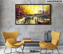 Schilderij Harderwijk Haven