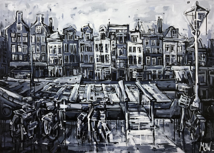 Huizen aan de Amstel