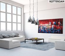 Schilderij Rotterdam skyline