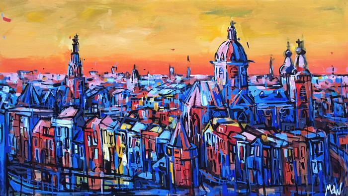 Schilderij Nicolaaskerk Amsterdam