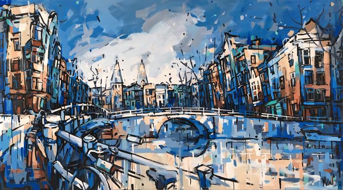 Schilderij Spiegelgracht Rijksmuseum