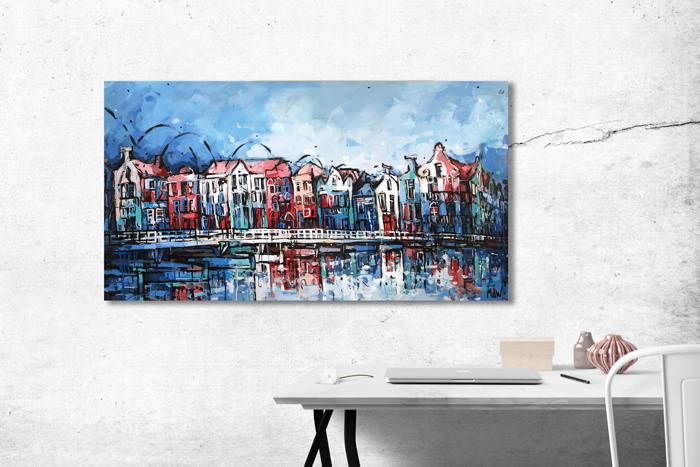 Schilderij Willemstad Pontjesbrug