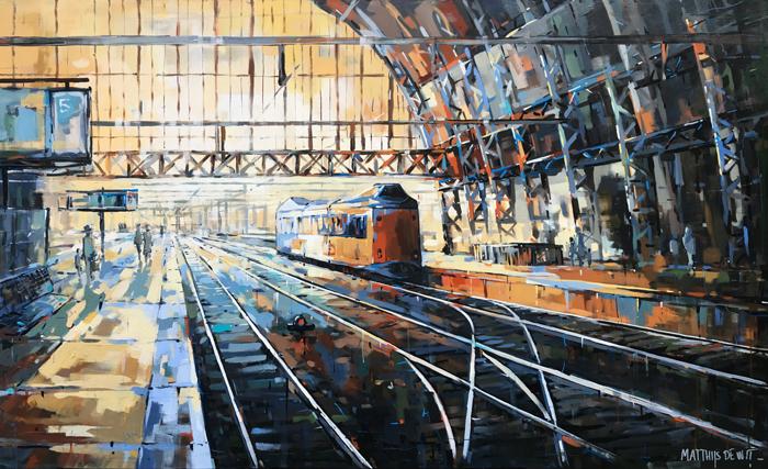 Schilderij Amsterdam Centraal